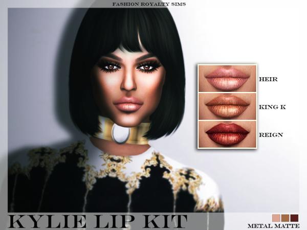 Sims 4 Kylie Lip Kit Metal Matte at Fashion Royalty Sims