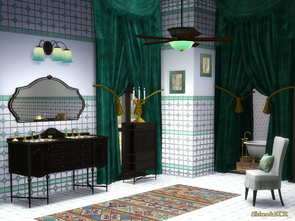 French Quarter Bathroom by ShinoKCR at TSR image 413 Sims 4 Updates
