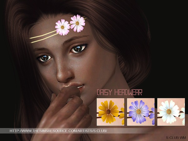 Daisy Headwear by S Club WM at TSR image 414 Sims 4 Updates