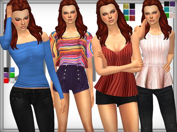 Sims 4 SET 17 Designer Top Set by DarkNighTt at TSR