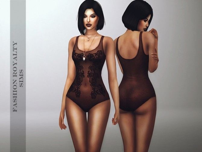 Sims 4 Dark Lace Bodysuit at Fashion Royalty Sims