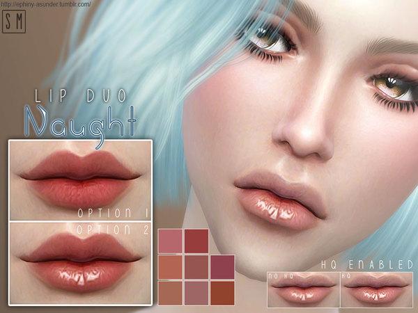 Sims 4 Naught Duo Lip Colour by Screaming Mustard at TSR