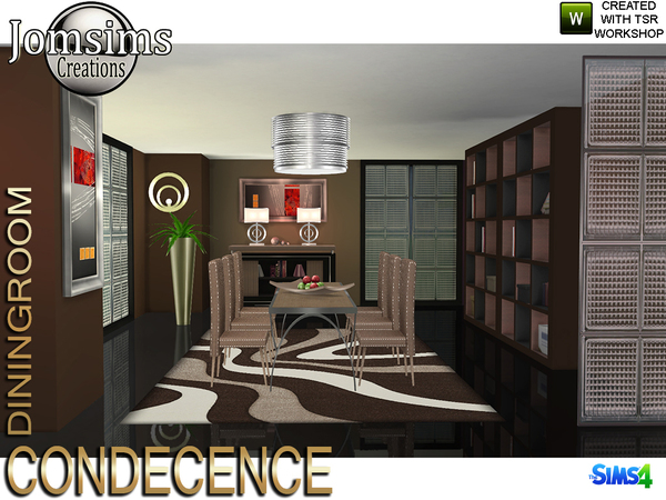 Condecence diningroom by jomsims at TSR image 429 Sims 4 Updates
