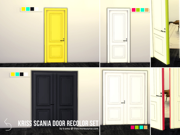 Sims 4 Kriss Scania Door Recolor Set by k omu at TSR