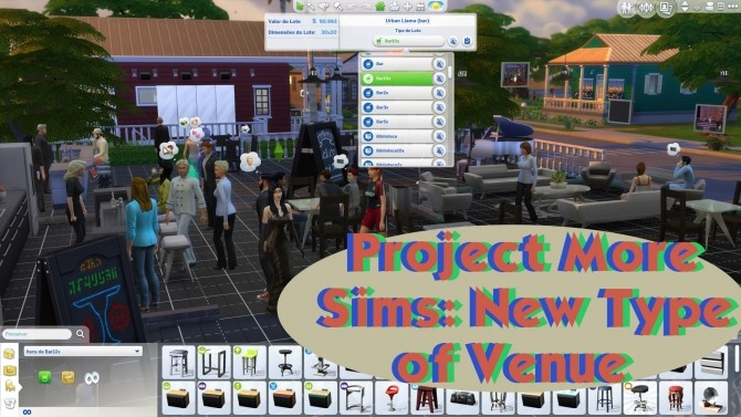 Sims 4 Project More Sims New Type of Venues by arkeus17 at Mod The Sims