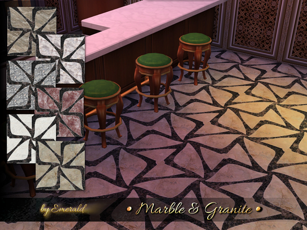 Sims 4 Marble & Granite Designs by emerald at TSR