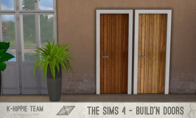 Sims 4 K All Wood 28 Doors sets 4, 5, 6 & 7 at K hippie