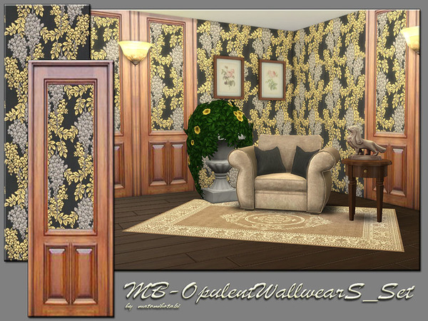 Sims 4 MB Opulent Wallwear S Set by matomibotaki at TSR