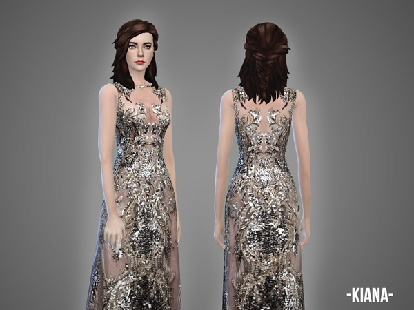 Sims 4 Kiana gown by April at TSR
