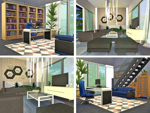 Sims 4 Robt modern cottage by Rirann at TSR