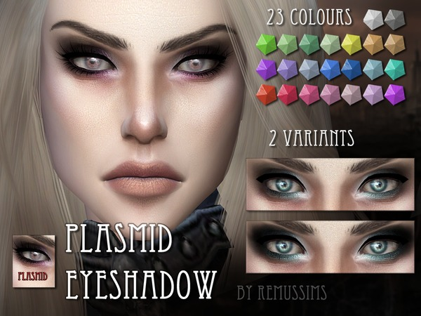 Sims 4 Plasmid Eyeshadow by RemusSirion at TSR