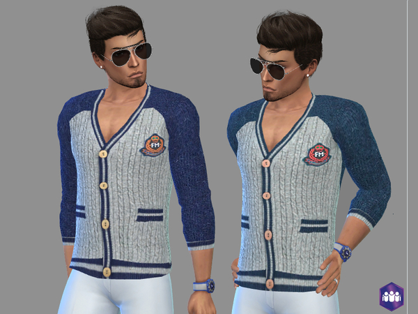 Sims 4 Cashmere blend cardigan by Puresim at TSR