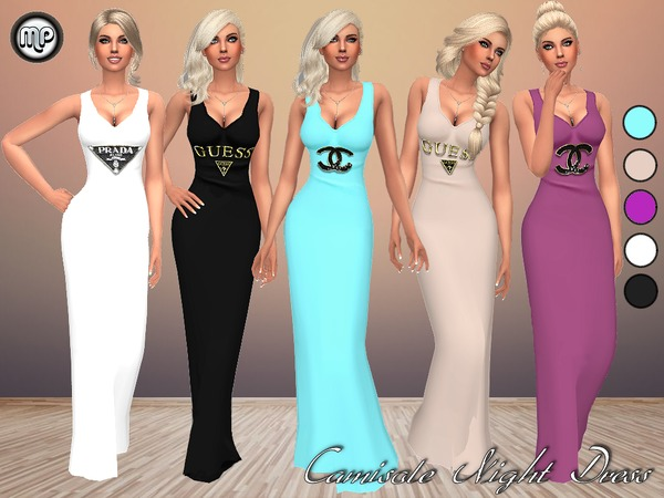 Sims 4 MP Camisole Night Dress at BTB Sims – MartyP