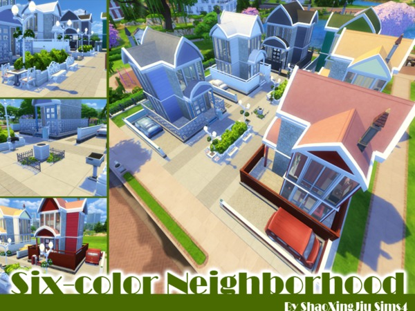 Sims 4 Six Color Neighborhood by jeisse197 at TSR