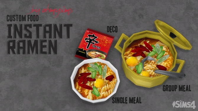 Instant Ramen By Ohmysims At Mod The Sims 187 Sims 4 Updates