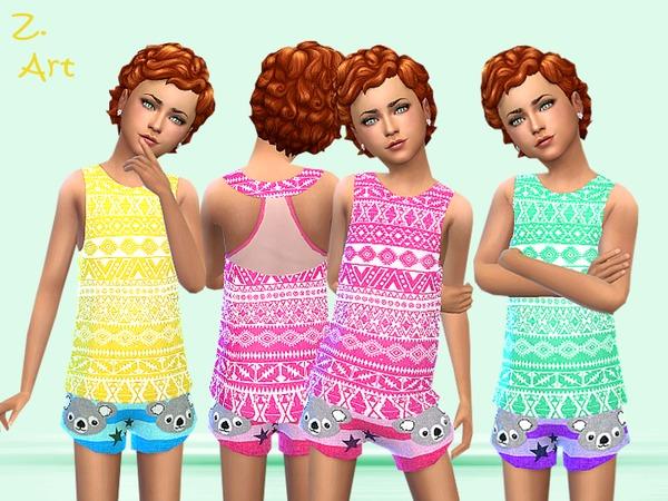 Koala summer outfit by Zuckerschnute20 at TSR image 512 Sims 4 Updates