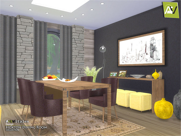 Hoxton dining room by artvitalex at tsr sims 4 updates for Dining room ideas sims 4