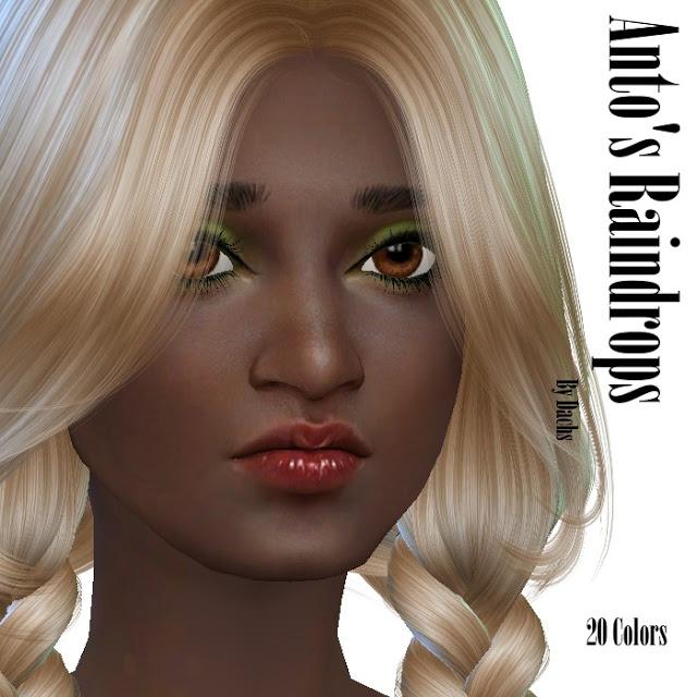 Sims 4 Antos Raindrops hair recolors at Dachs Sims