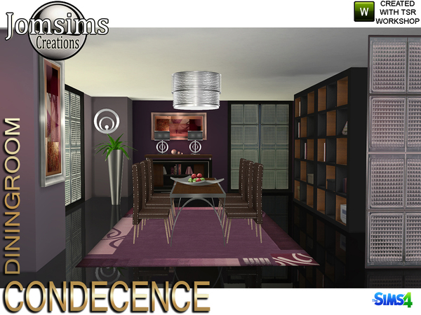 Condecence diningroom by jomsims at TSR image 529 Sims 4 Updates
