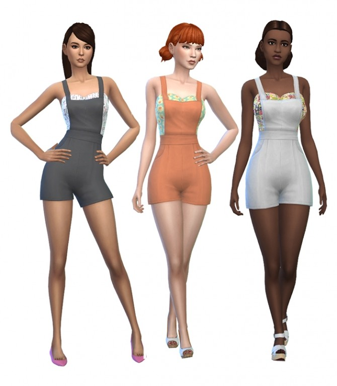 Sims 4 30 Back Yard Stuff Shortalls Recolors by deelitefulsimmer at SimsWorkshop