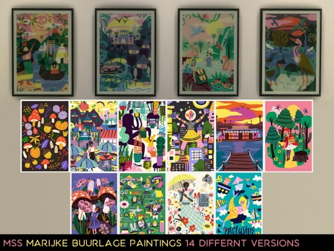 Marijke Buurlage paintings by midnightskysims at SimsWorkshop image 5611 670x503 Sims 4 Updates