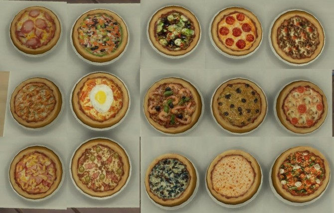 15 mini pizzas for restaurants and home by necrodog at Mod The Sims image 5713 670x428 Sims 4 Updates