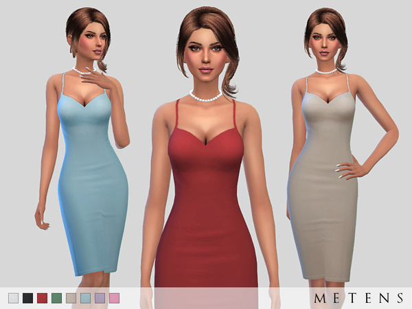 Sims 4 Mayfair Dress by Metens at TSR