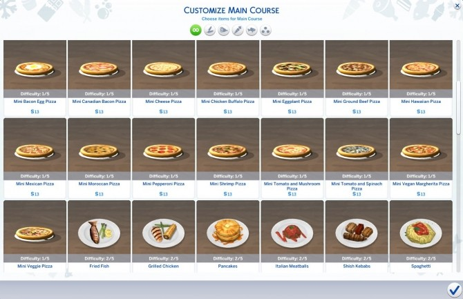 15 mini pizzas for restaurants and home by necrodog at Mod The Sims image 5813 670x433 Sims 4 Updates