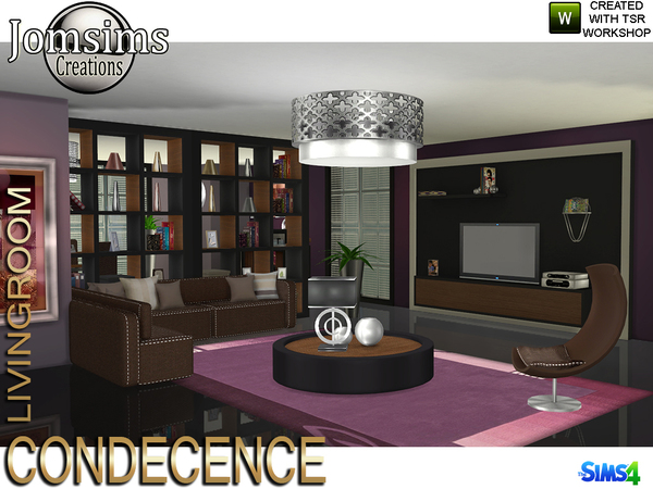 Condecence livingroom by jomsims at TSR image 585 Sims 4 Updates