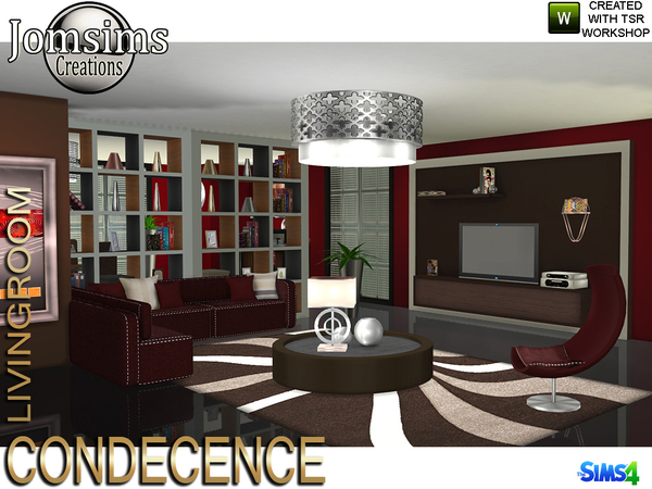 Condecence livingroom by jomsims at TSR image 594 Sims 4 Updates