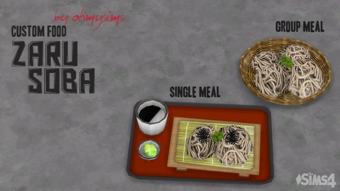 Zaru Soba By Ohmysims At Mod The Sims 187 Sims 4 Updates