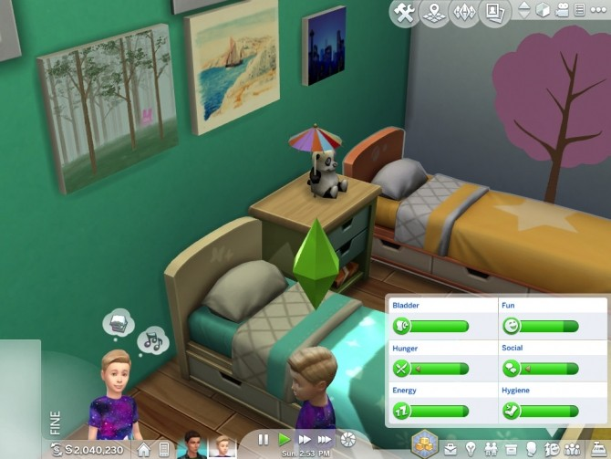 Sims 4 Happy Buffs Changed To Fine by Shimrod101 at Mod The Sims