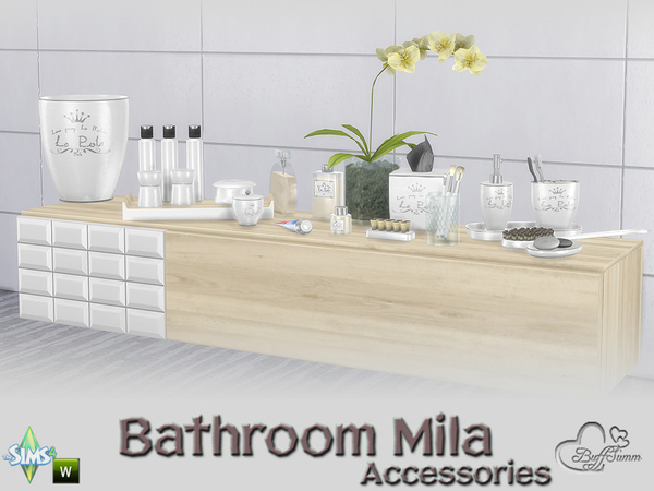 Mila Bathrom Accessories by BuffSumm at TSR image 614 Sims 4 Updates