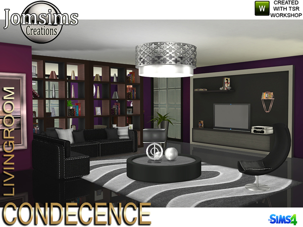Condecence livingroom by jomsims at TSR image 618 Sims 4 Updates
