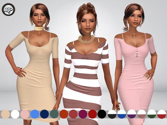 Sims 4 MP Nathalias Dress at BTB Sims – MartyP