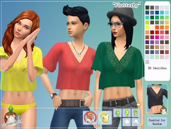 Sims 4 Flutterby Top by Standardheld at SimsWorkshop