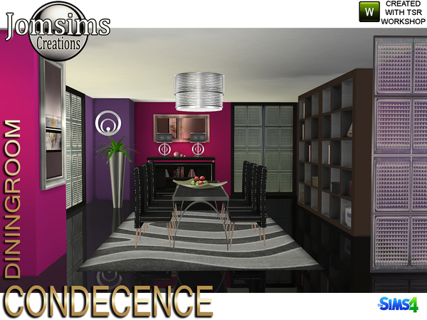 Condecence diningroom by jomsims at TSR image 627 Sims 4 Updates