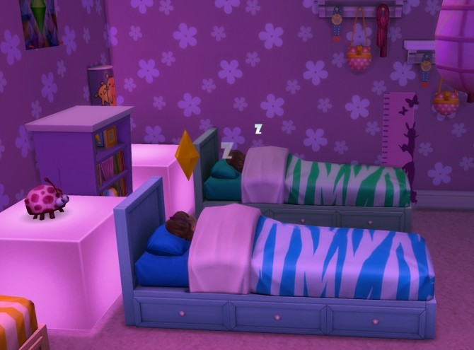 Sims 4 Recoloured Beddy Bye Single Bed Sleeper by wendy35pearly at Mod The Sims