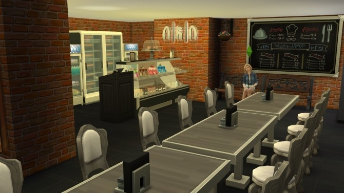Sims 4 Lupis Pizza Restaurant by darksyngr at TSR