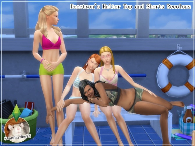 Sims 4 Halter top and shorts by Standardheld at SimsWorkshop