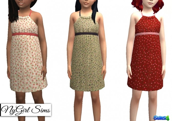 Sims 4 Petite Fleur Sunday Dress at NyGirl Sims