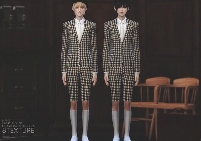 Man Short Slim Fit Blazer Amp Trousers At Black Le 187 Sims 4