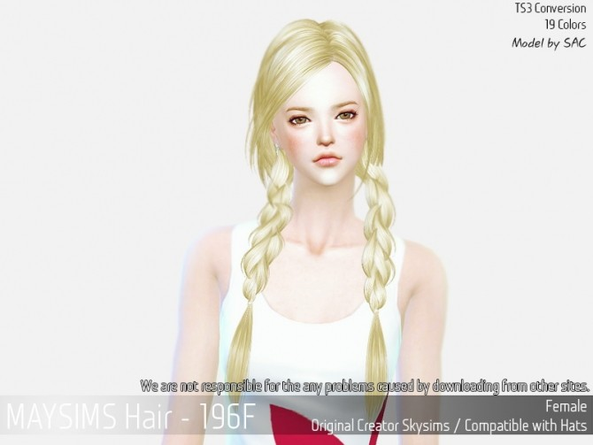 Sims 4 Hair 196F (Skysims) at May Sims