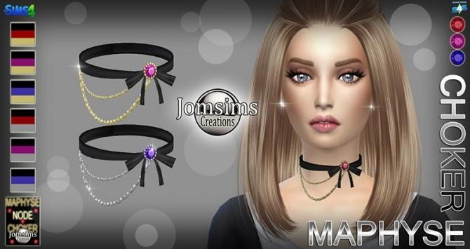Sims 4 MAPHYSE choker at Jomsims Creations