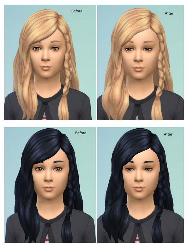 Sims 4 Messy Braid Edit at Birksches Sims Blog