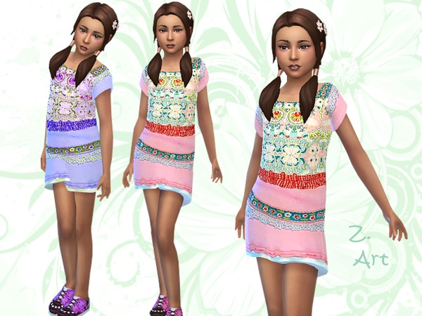 Sims 4 Isle Style dresses by Zuckerschnute20 at TSR