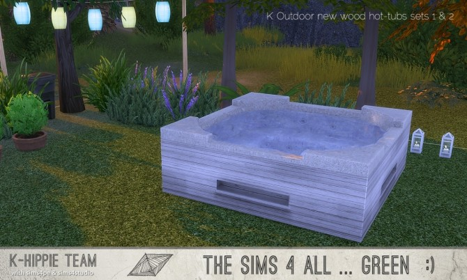 K Outdoor New Wood Hot Tubs 2x7 Sets 1 Amp 2 At K Hippie 187 Sims 4 Updates