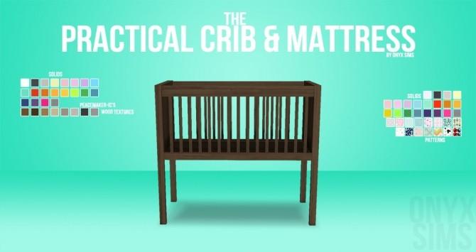 Sims 4 The Practical Crib & Mattress at Onyx Sims