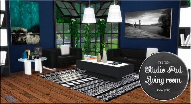 Sims 4 Studio Pad Living Room conversion at Victor Miguel