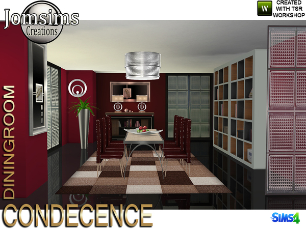 Condecence diningroom by jomsims at TSR image 730 Sims 4 Updates
